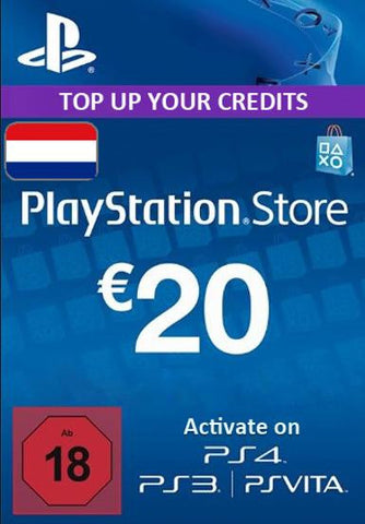 Playstation Network [PSN] | Cash Cards | 20 EURO | Netherlands - www.15digits.co.uk