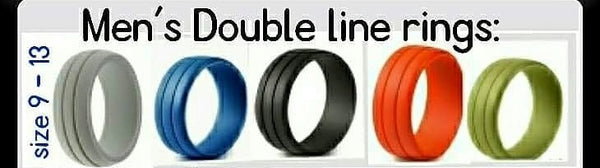 Men's Double Line Rings