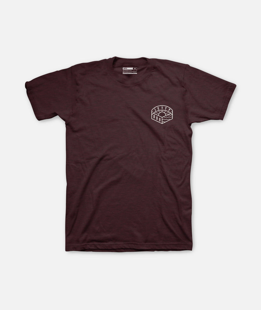 Trooper Tee- Oxblood Black