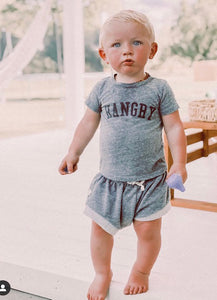 Kid's Hangry T-Shirt, Super Soft 100% Organic Cotton, Sizes 3M - 12 | Brokedown Clothing