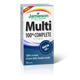 Jamieson Multivitamin 100% Complete for Men 50+ 90 caplets by Jamieson - Ebambu.ca natural health product store - free shipping <59$