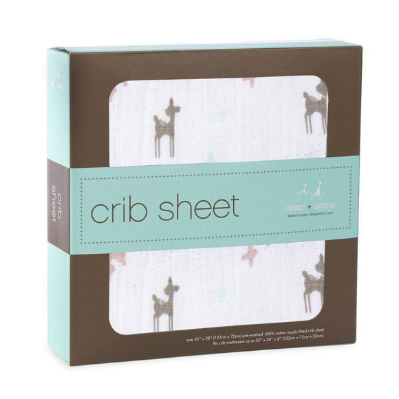 Aden and Anais Classic Infant Crib Sheet Brixy Camp Girl-Gifts & Apparel-Babysupermarket