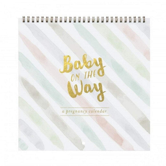 CR Gibson Gifts & Apparel CR Gibson Baby on the Way Pregnancy Calendar