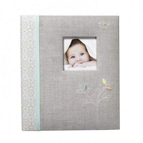 CR Gibson Gifts & Apparel CR Gibson Linen Tree Loose Leaf Baby Memory Book