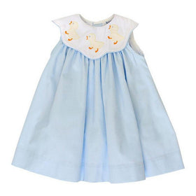 The Bailey Boys Girls Apparel 12M / Blue The Bailey Boys Ducky Collection Girls Float Dress