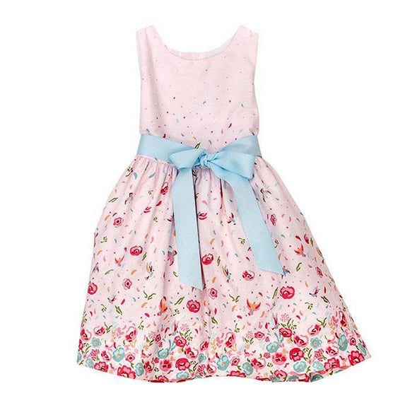The Bailey Boys Girls Apparel 4 / Pink The Bailey Boys Pink Floral Collection Girls Dress