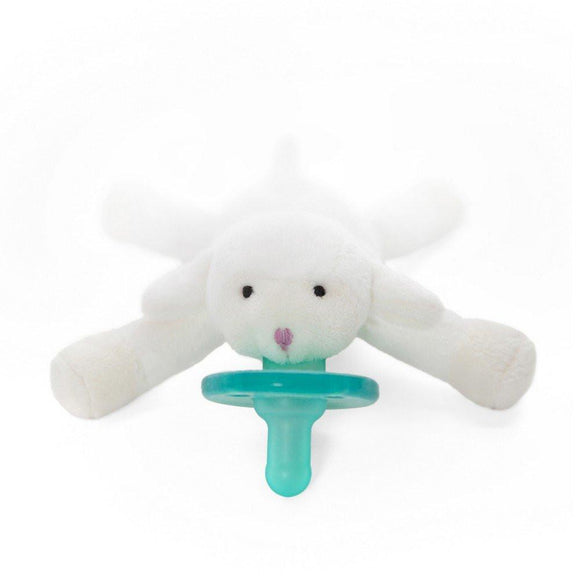 WubbaNub Pacifier Holder Little Lamb-Baby Care-Babysupermarket