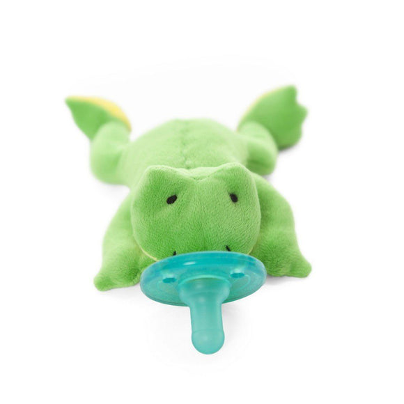 WubbaNub Pacifier Holder Green Frog-Baby Care-Babysupermarket