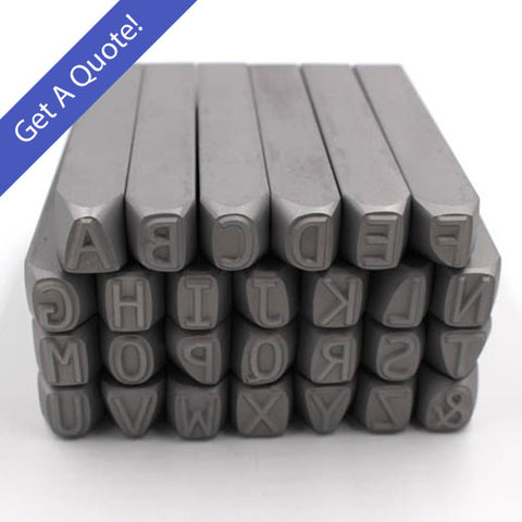 Larger (7.2mm and up) Any Font- Alphabet Stamps