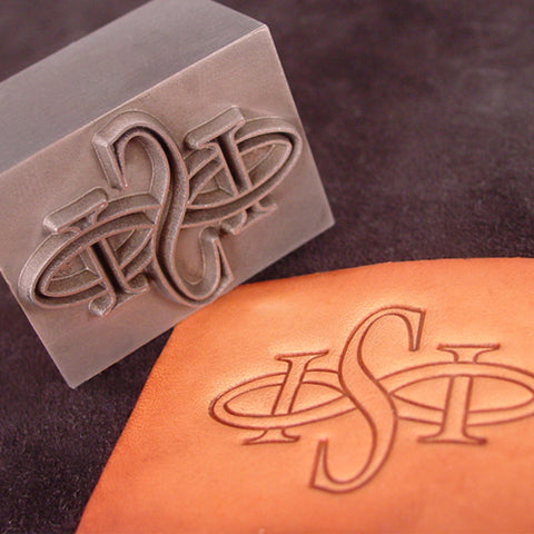 Custom Leather Plate Stamp made of Steel and impression