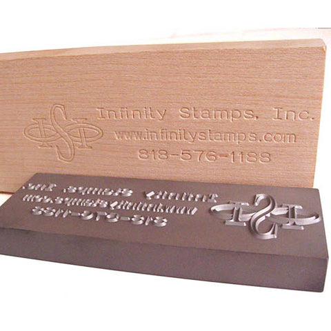Custom Wood Plate Stamp and impression
