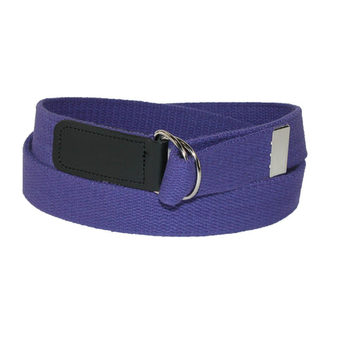 Cotton Web 1 1/4 Inch Belt with Double D Ring Buckle