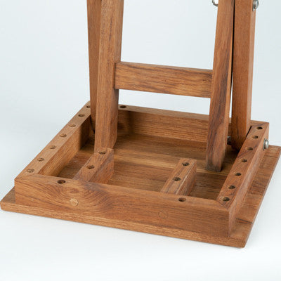 Teak Shower Bench with folding scissor legs