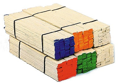 Model Railstuff 506-130 Banded Lumber Stack Red Ends pkg(2)