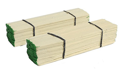 Model Railstuff 506-140 Banded Lumber Stack Green Ends pkg(2)