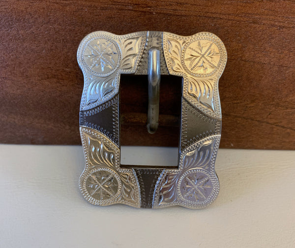 "10754 New Handmade DON ROGERS ¾"" Headstall Buckle"