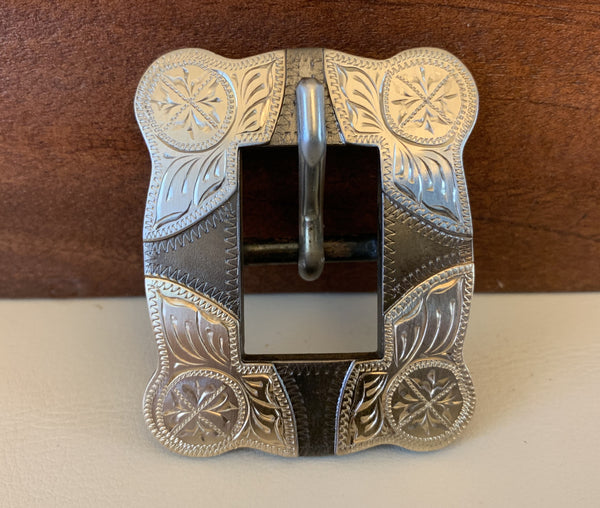 "10756 New Handmade DON ROGERS ¾"" Headstall Buckle"