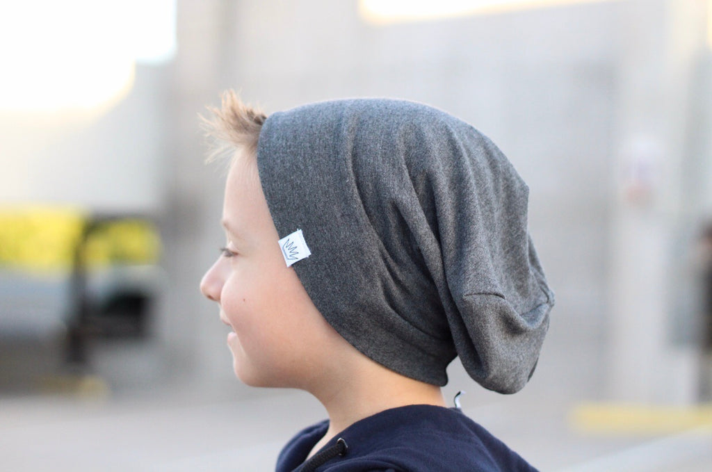 Dark heather gray beanie