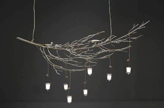 Twig Curved Hanging Chandelier