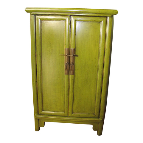 Chinese Style Lime Green Lacquer Bedside Chest