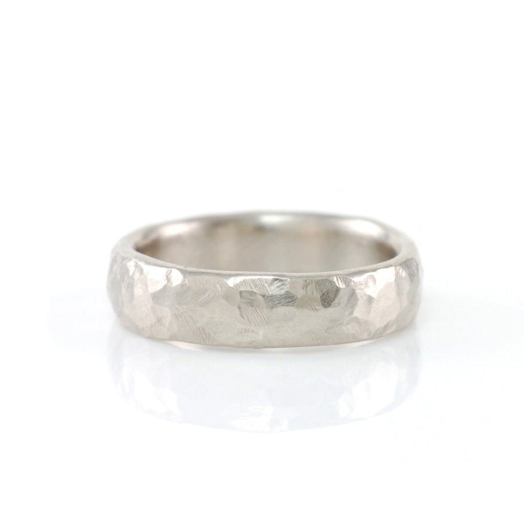 Love Rocks Hammered Ring in Palladium Silver Alloy - Size 7 3/4 - Ready to Ship - Beth Cyr Handmade Jewelry