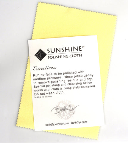 Sunshine Polishing Cloth - Beth Cyr Handmade Jewelry