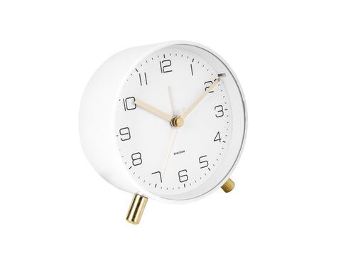 Karlsson Alarm Clock Lofty - White