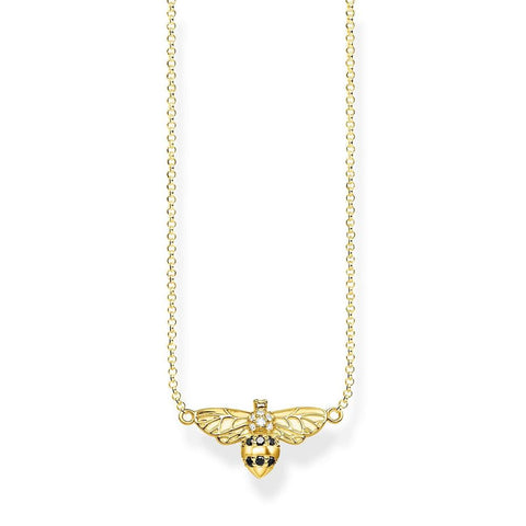 Thomas Sabo Paradise Bee Necklace Yellow Gold Plate - TKE1866Y