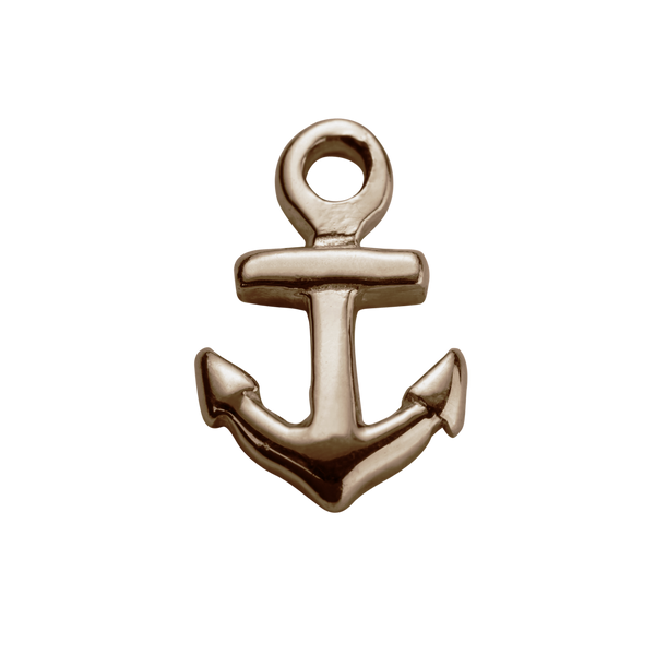 STOW Lucky Anchor (Strength) Charm - 9ct Rose Gold