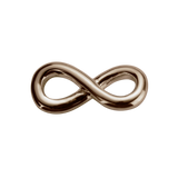 STOW Infinity Twist (Devotion) Charm - 9ct Rose Gold
