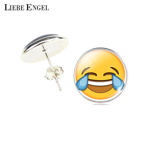 LIEBE ENGEL Emoticons Stud Earrings