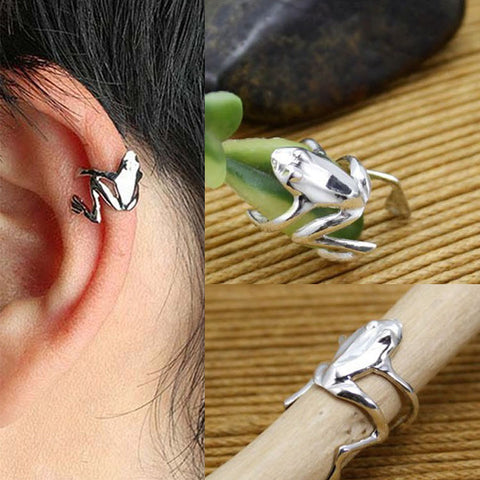 Frog Cuff Ear Clip Wrap Earrings