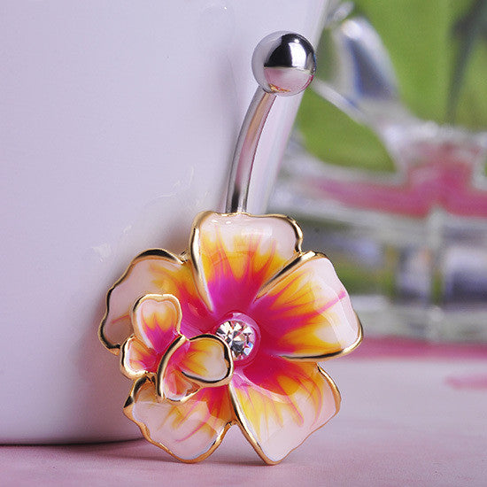 Flower Belly Button Ring (Piercing)