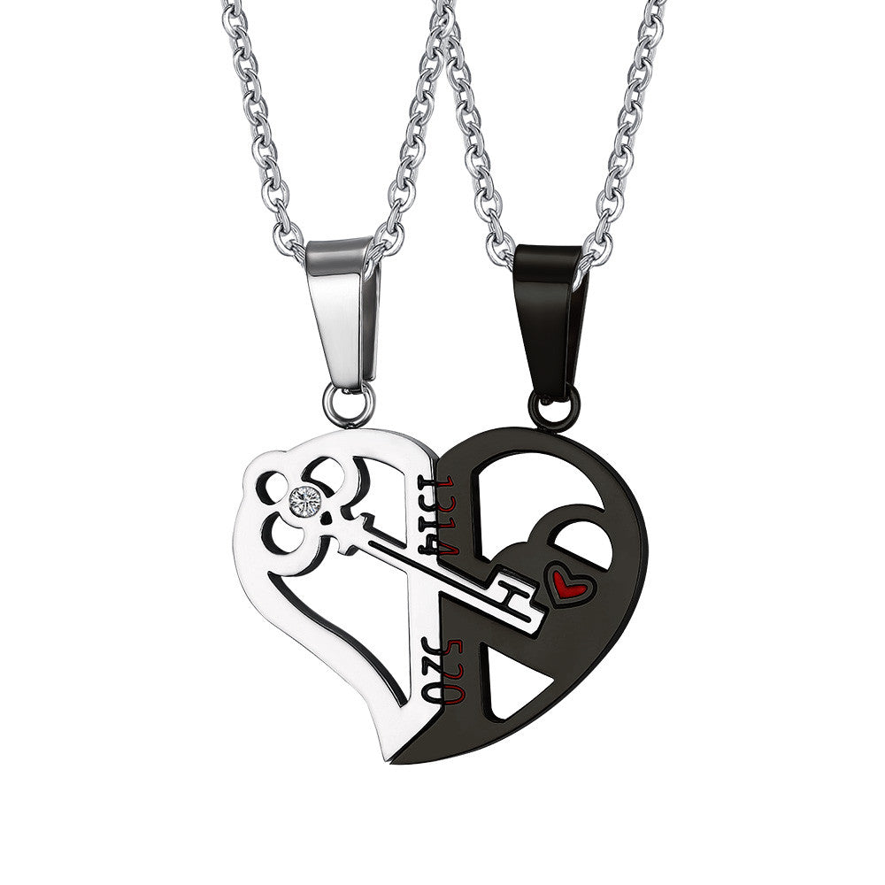 Key & Lock for Couple Necklace