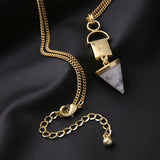 Geometric Stone Pendant Marble Necklace