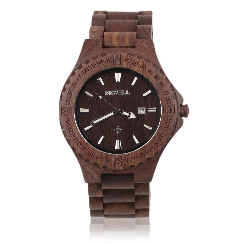 Wood Watch in Red (Wooden Wristwatch for Men)