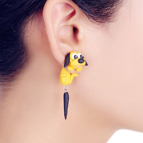 Cartoon Dog Stud Earrings