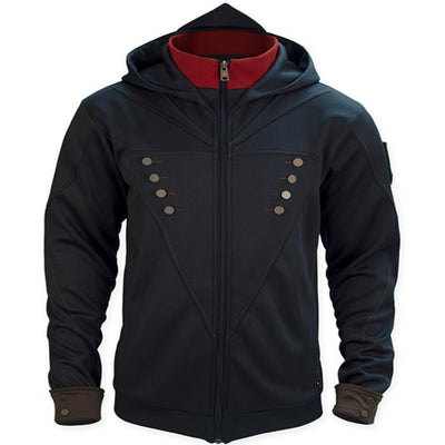Assassin Creed Print Zipper Cardigan Hoodie