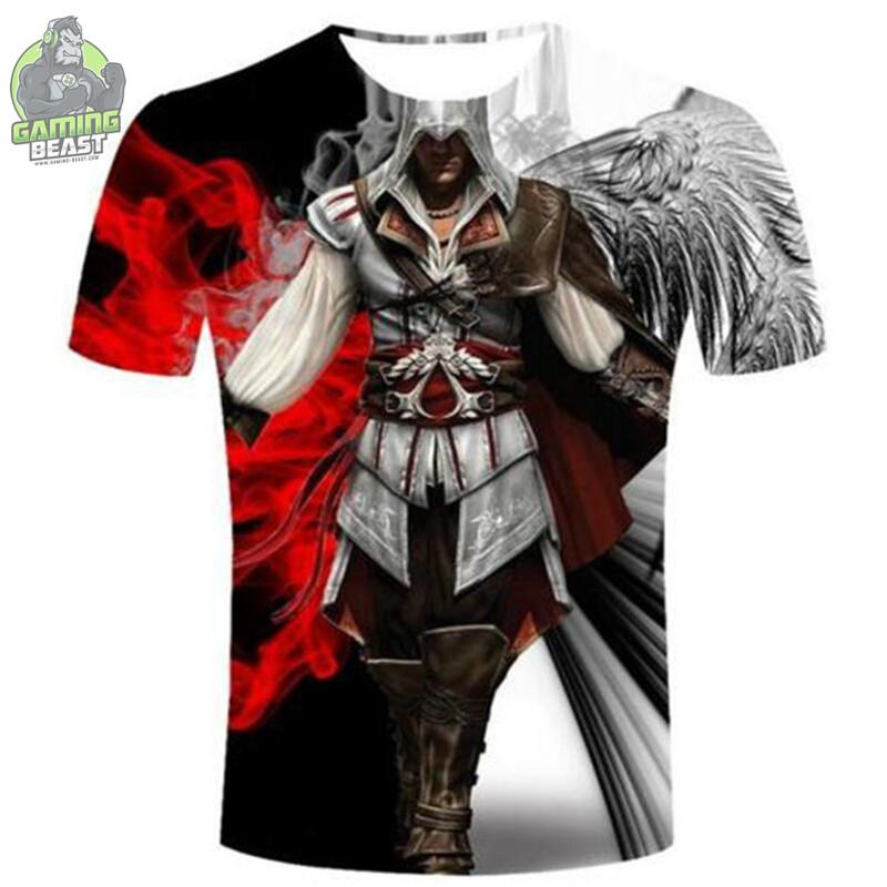 Assassin's Creed 3D Print Casual T-shirt