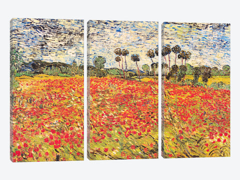 "Field of Poppies by Vincent van Gogh Canvas Print 60"" L x 40"" H x 1.50"" D"