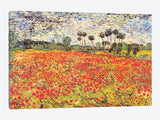 Field of Poppies by Vincent van Gogh Canvas Print 60