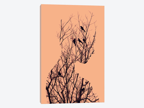 "Birds in Spring II  by Courtney Prahl Canvas Print 26"" L x 26"" H x 0.75"" D"