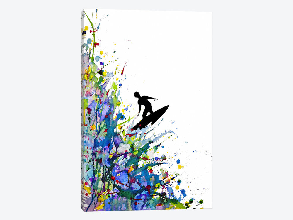 "A Pollock's Point Break by Marc Allante Canvas Print 18"" L x 26"" H x 0.75"" D - eWallArt"