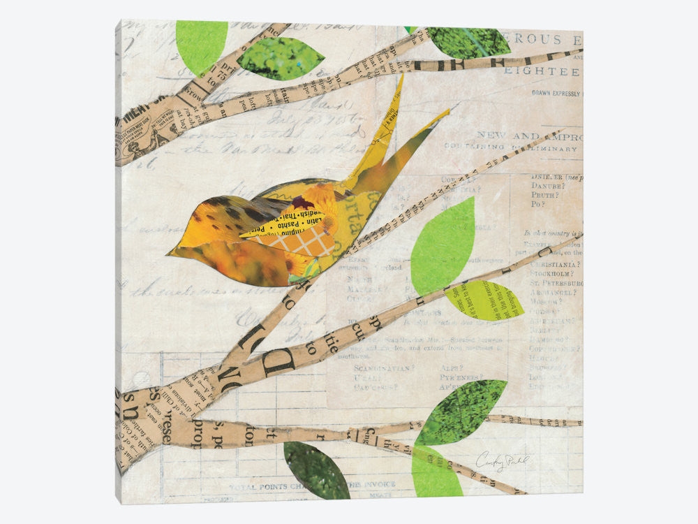 "Birds in Spring II  by Courtney Prahl Canvas Print 26"" L x 26"" H x 0.75"" D - eWallArt"