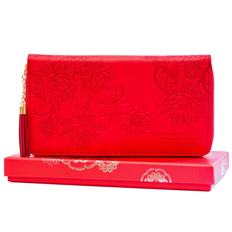 Intrinsic-Fiesta Red Travel Clutch