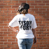 TFTEE2W - White Tyson Fury T-Shirt with TF logo
