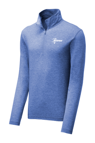 Adult's US Lacrosse Tri-Blend Wicking 1/4 Zip Pullover