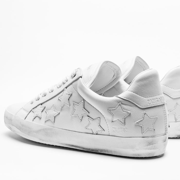 Zadig White Star Sneakers
