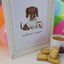 'Custard Cream' Sophie Corrigan x Cupcake Pug Co signed A4 print