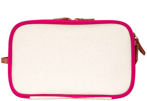 Daisy Coated Canvas Dopp Kit - Pink